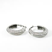 Affordable Trendy Fashionable Jewelry | Hoop Silver Earrings